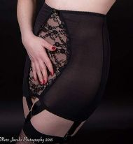 High Waisted Suspender Girdle, Vintage Style